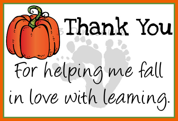 Free Fall Thank You Notes For Teachers   Dinosaurs