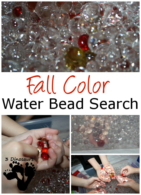 Fall Color Water Bead Search - 3Dinosaurs.com