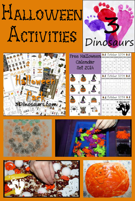 Halloween Activities on 3 Dinosaurs