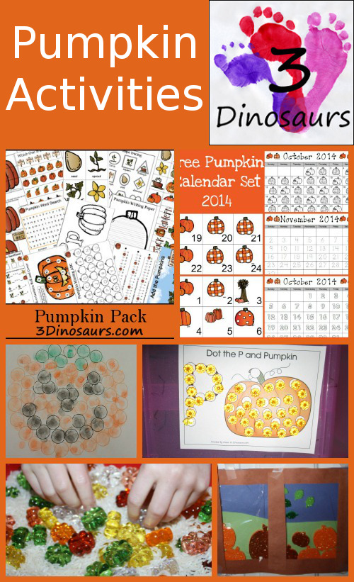 Pumpkin Activities & Printabless
