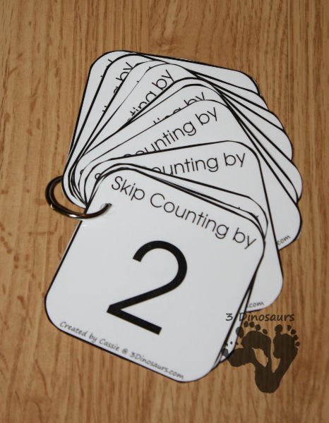 Free Skip Counting Dice - 3Dinosaurs.com