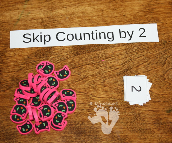 Free Skip Counting Tiles - 3Dinosaurs.com