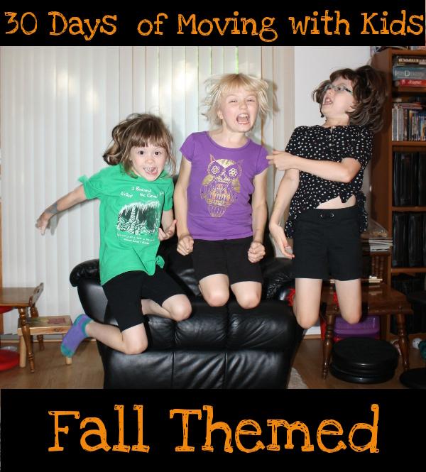 30 Days of Gross Motor - Fall Themed - 3Dinosaurs.com