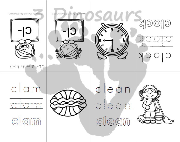 Free Blends Small Books: Bl-, Br-, Cl-, Cr-  - 3Dinosaurs.com