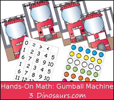 Gumball Machine: Hands on Math - 3Dinosaurs.com
