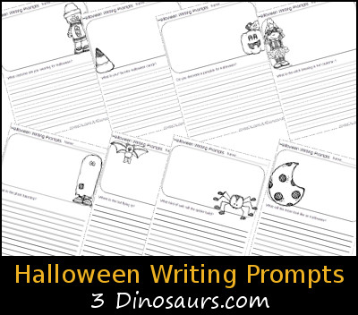 Free Halloween Writing Prompts - 3Dinosaurs.com