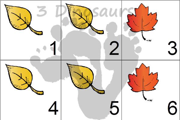 Free Leaves Calendar Set 2015 Update - 3Dinosaurs.com