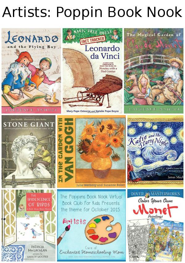 October Poppins Book Nook: Artists - 3Dinosaurs.com