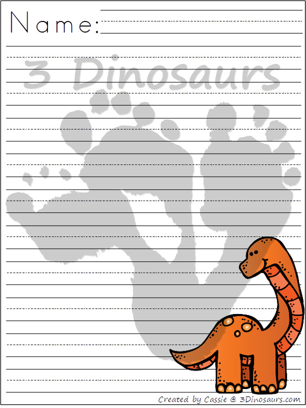 dinosaur writing paper If your kids love dinosaurs, you'll find a huge collection of free dinosaur printables for all ages here - both fun and educational.