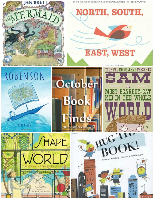 Library Book Finds from October 2017: mermaids, directions, shapes, fear, frank lloyd wright, maps, mermaid, ocean, Robinson Cursoe - 3Dinosaurs.com