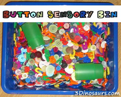 Button Sensory Bin
