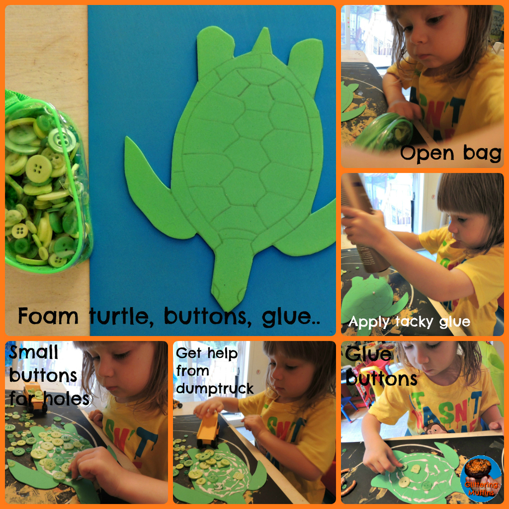 Glittering Muffins - Australia – Dot art buttons turtle
