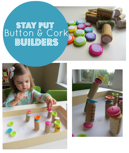 No Time For Flash Cards - Stay Put Button Cork Builders