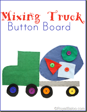 Royal Baloo - Mixing Truck Button Board