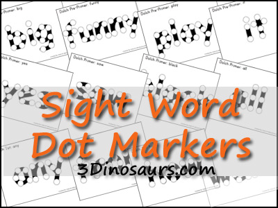 Sight Word Dot Marker - 3Dinosaurs.com
