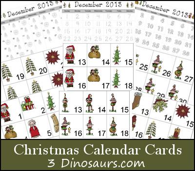 Christmas Calendar - 3Dinosaurs.com