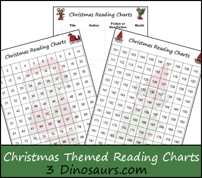 Free Christmas Themed Reading Charts - 3Dinosaurs.com