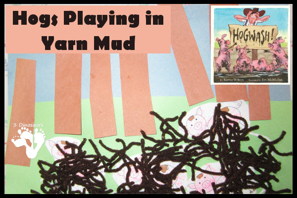 Hogs Playing in Yarn Mud - 3Dinosaurs.com