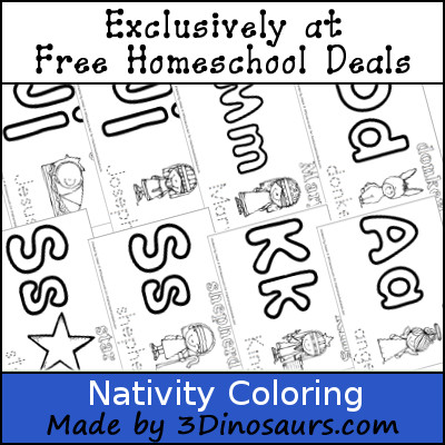 Free Nativity Coloring Set - 3Dinosaurs.com