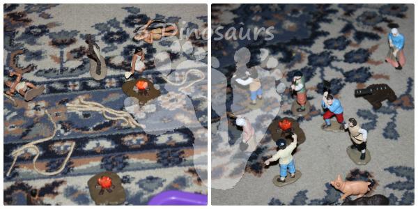 Thanksgiving Sensory Bin - Squanto's Journey - 3Dinosaurs.com