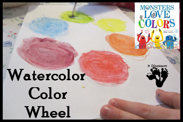Homeschool Preschool: Watercolor Color Wheel