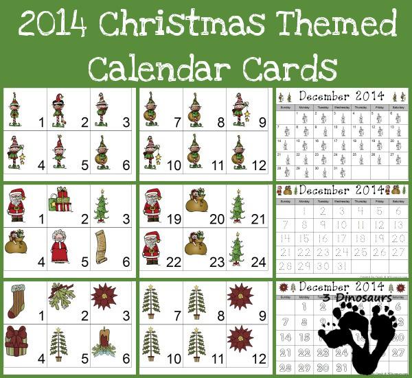 Christmas Printable calendar for kids