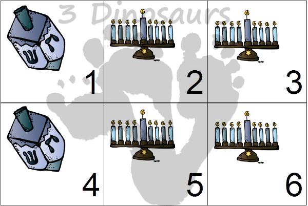 Free 2014 Hanukahh Calendar Printables - 3Dinosaurs.com