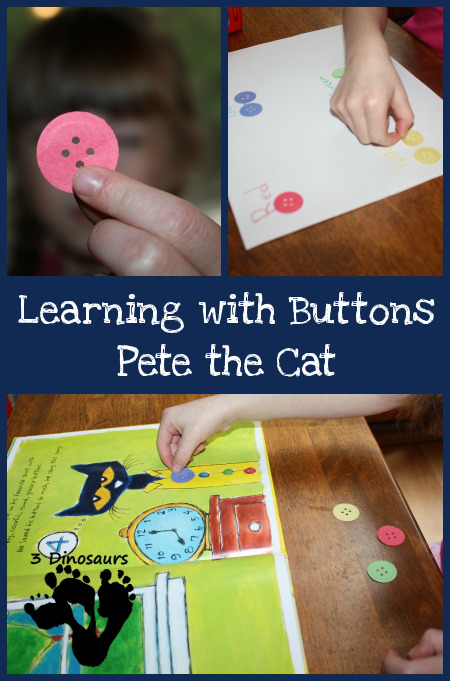 Learning With Buttons - Pete the Cat - 3Dinosaurs.com