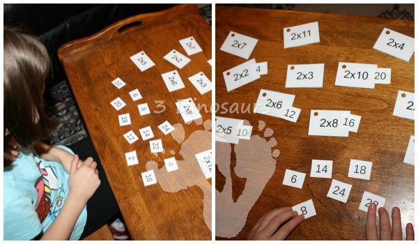 Free Multiplication Flash Cards - 3Dinosaurs.com
