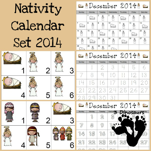 Free 2014 Nativity Calendar Printable