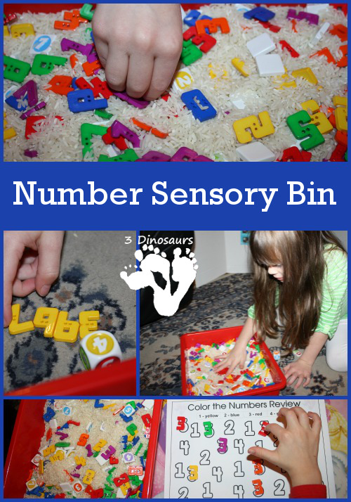 Number Sensory Bin - 3Dinosaurs.com