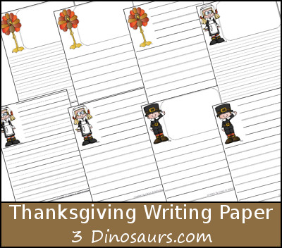 free thanksgiving writing paper