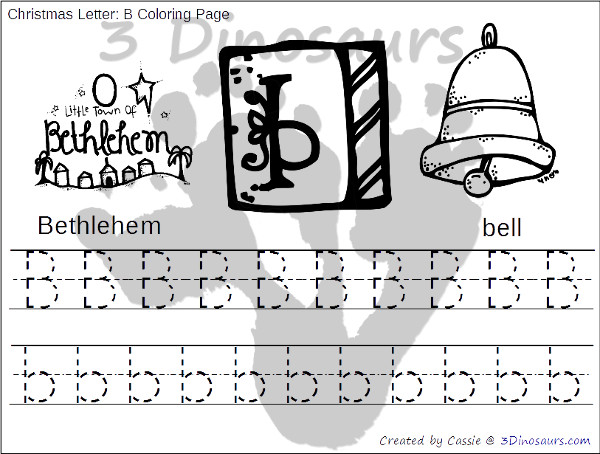 Free Christmas Themed ABC Tracing - print and cursive options with all 26 letters - 3Dinosaurs.com