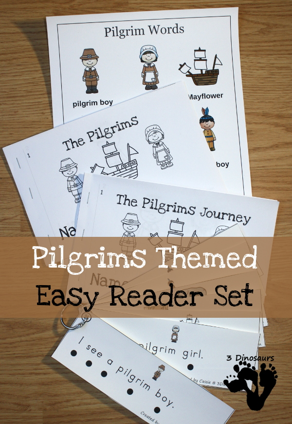 Pilgrims Thanksgiving Easy Reader Set- price: $3.5 - 5 different book options plus reading strips that match 2 of the books - 3Dinosaurs.com