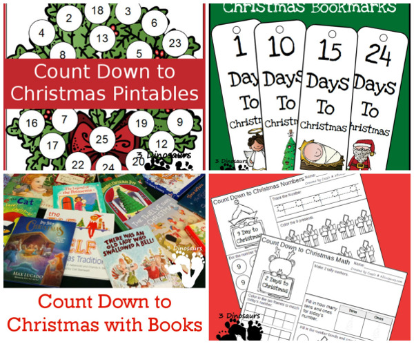 75+ Christmas Printables for Kids - with themed packs, learning to read, math, numbers, shapes and more - 3Dinosaurs.com