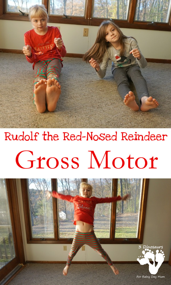 Rudolph The Red-Nosed Reindeer Themed Gross Motor- 3Dinosaurs.com