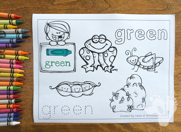 Free Color Coloring Pages - 11 color coloring pages in an easy no-prep format - 3Dinosaurs.com