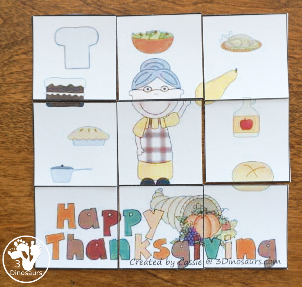 Free Thanksgiving Pack for Tot, Preschool, Kindergarten, First Grade - over 120 pages for the main pack and 29 pages in the Tot-Preschool Pack with a mix of hands-on and no-prep activities - 3Dinosaurs.com
