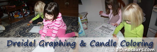 Dreidel Graphing & Candle Coloring