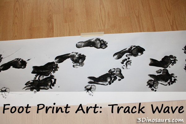 Foot Print Art: Track Wave