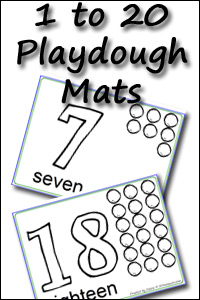New Number Playdough Mats