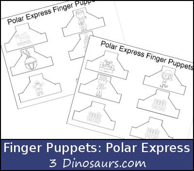 Polar Express Finger Puppets