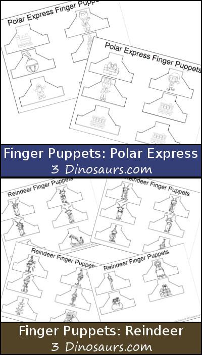 Reindeer and Polar Express Finger Puppets