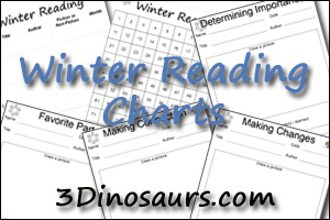 Winter Reading Charts - 3Dinosaurs.com