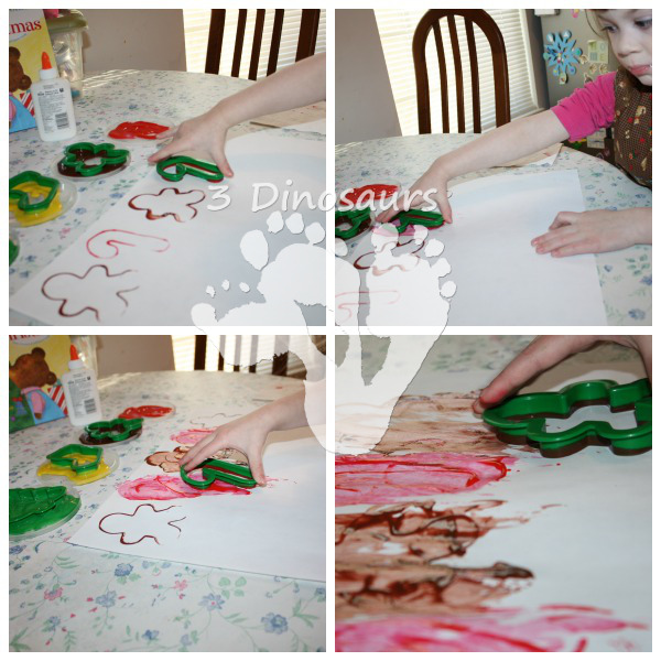 Christmas Cookie Cutter Painting by 3Dinosaurs.com
