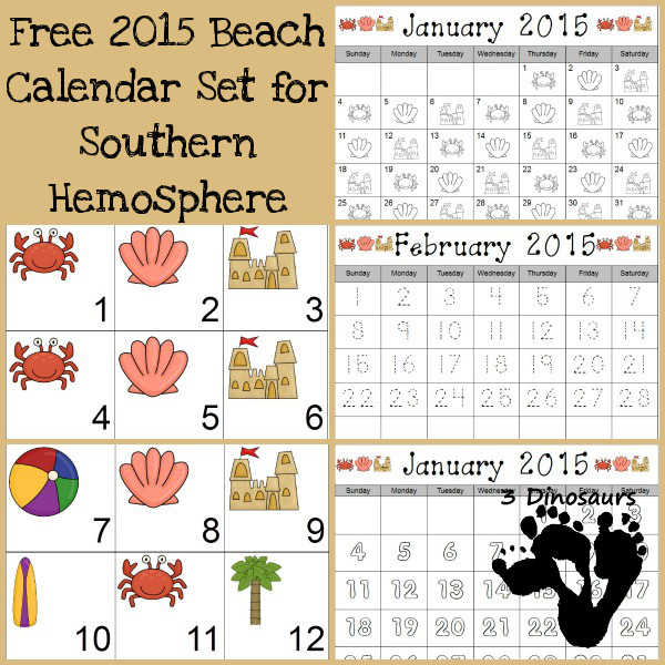 Free Beach Calendar for 2015