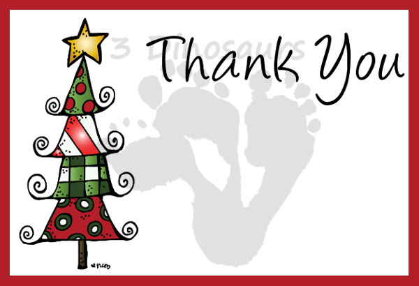 Free Christmas Thank You Notes 3 Dinosaurs