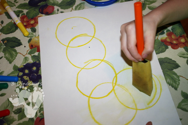 5 Gold Ring Water Color Painting - 3Dinosaurs.com