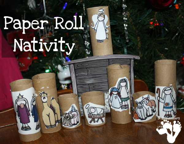 Easy to Make Paper Roll Nativity - 3Dinosaurs.com