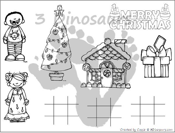 Free Christmas Themed Placemats! - 3Dinosaurs.com
